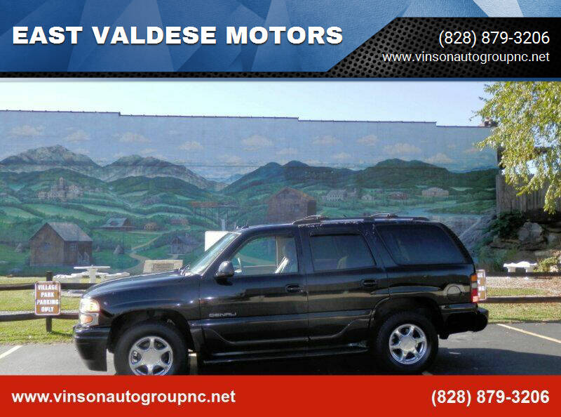 2005 GMC Yukon for sale at EAST VALDESE MOTORS / VINSON AUTO GROUP in Valdese NC