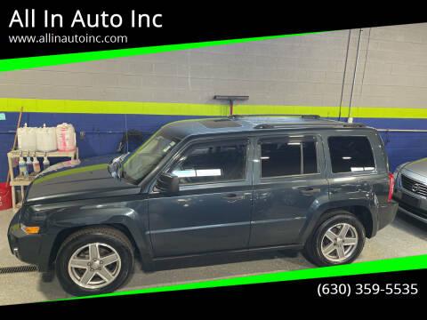 2008 Jeep Patriot for sale at All In Auto Inc in Addison IL