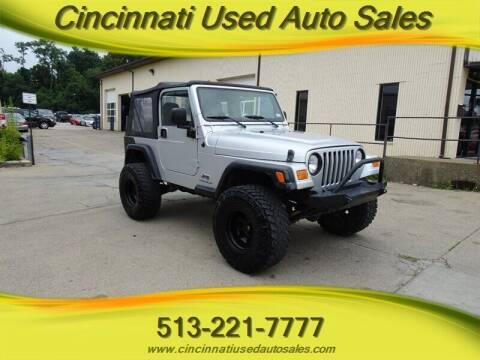 2006 Jeep Wrangler for sale at Cincinnati Used Auto Sales in Cincinnati OH