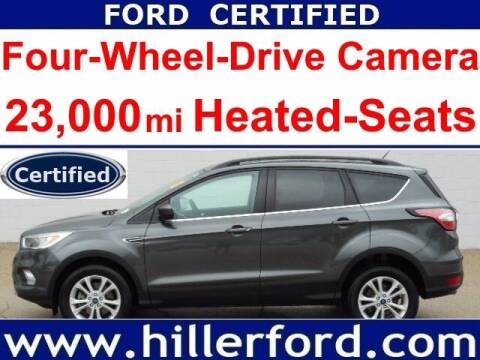2018 Ford Escape for sale at HILLER FORD INC in Franklin WI