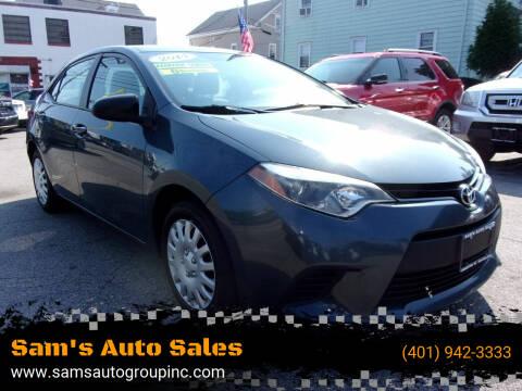 2014 Toyota Corolla for sale at Sam's Auto Sales in Cranston RI