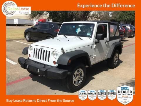 2011 Jeep Wrangler for sale at Dallas Auto Finance in Dallas TX