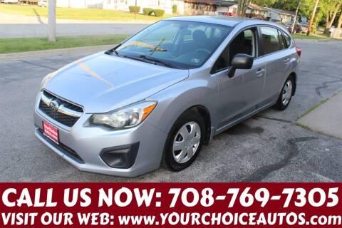 2012 Subaru Impreza for sale at Your Choice Autos in Posen IL