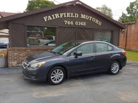 2012 Subaru Impreza for sale at Fairfield Motors in Fort Wayne IN