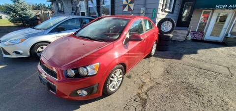 2012 Chevrolet Sonic for sale at MGM Auto Sales in Cortland NY