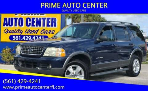 2004 Ford Explorer for sale at PRIME AUTO CENTER in Palm Springs FL