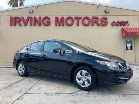 2014 Honda Civic for sale at Irving Motors Corp in San Antonio TX