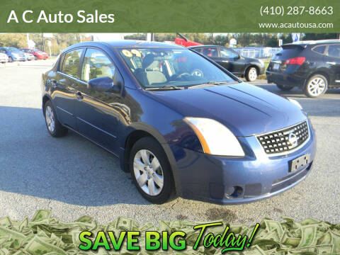 2009 Nissan Sentra for sale at A C Auto Sales in Elkton MD