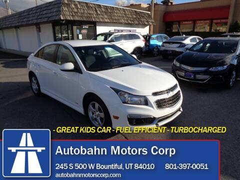 2015 Chevrolet Cruze for sale at Autobahn Motors Corp in Bountiful UT