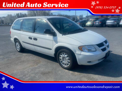 2004 Dodge Grand Caravan for sale at United Auto Service in Leominster MA