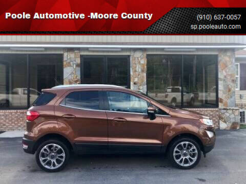 2019 Ford EcoSport for sale at Poole Automotive in Laurinburg NC