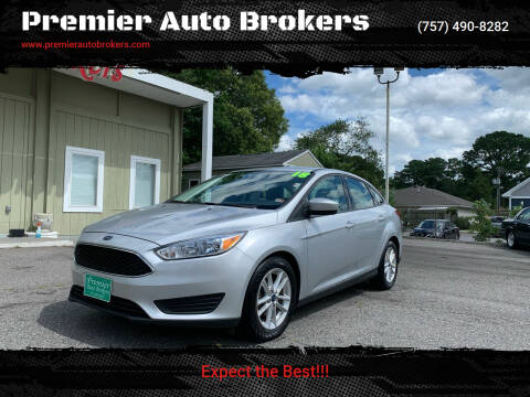 2018 Ford Focus for sale at Premier Auto Brokers in Virginia Beach VA