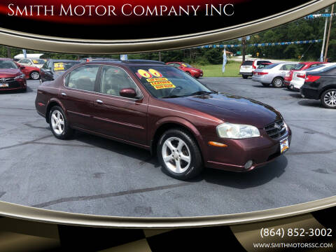 2000 Nissan Maxima for sale at Smith Motor Company INC in Mc Cormick SC