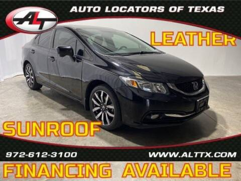 2015 Honda Civic for sale at AUTO LOCATORS OF TEXAS in Plano TX