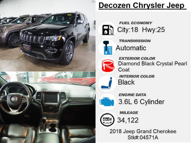 2018 Jeep Grand Cherokee 4x4 Limited 4dr SUV - Montclair NJ