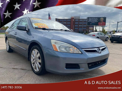 2007 Honda Accord for sale at A & D Auto Sales in Joplin MO