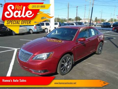 2013 Chrysler 200 for sale at Hanna's Auto Sales in Indianapolis IN