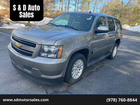2012 Chevrolet Tahoe Hybrid for sale at S & D Auto Sales in Maynard MA