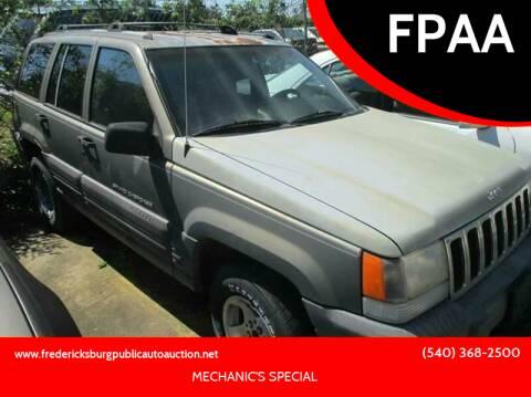 1996 Jeep Grand Cherokee for sale at FPAA in Fredericksburg VA