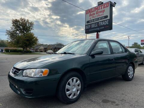 2001 Toyota Corolla for sale at Unlimited Auto Group in West Chester OH