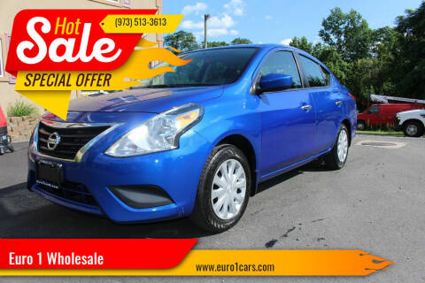 2015 Nissan Versa for sale at Euro 1 Wholesale in Fords NJ