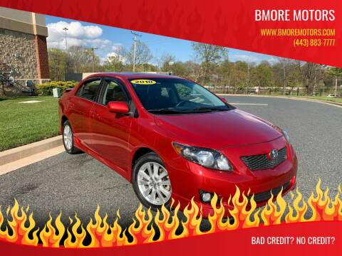 2010 Toyota Corolla for sale at Bmore Motors in Baltimore MD
