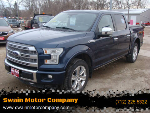 2015 Ford F-150 for sale at Swain Motor Company in Cherokee IA