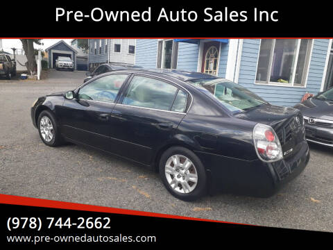 2005 Nissan Altima for sale at Pre-Owned Auto Sales Inc in Salem MA
