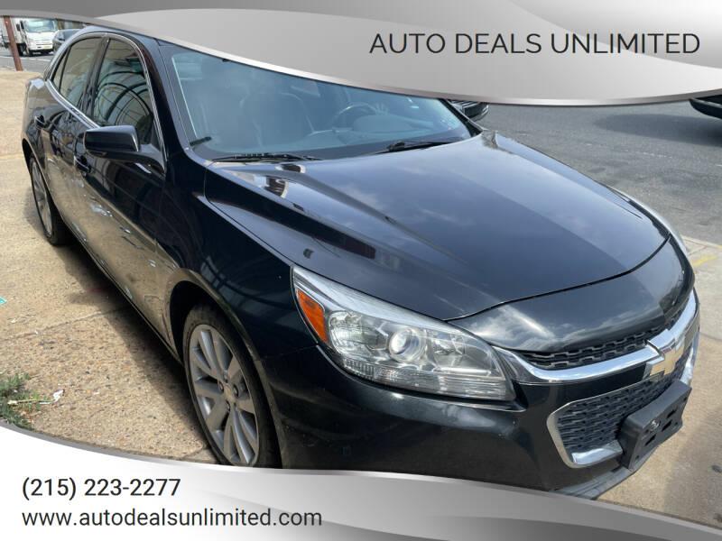 2014 Chevrolet Malibu for sale at AUTO DEALS UNLIMITED in Philadelphia PA