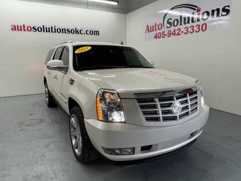 2013 Cadillac Escalade ESV for sale at Auto Solutions in Warr Acres OK