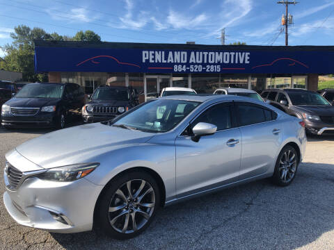 2016 Mazda MAZDA6 for sale at Penland Automotive Group in Laurens SC