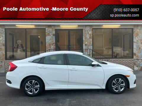 2018 Honda Civic for sale at Poole Automotive -Moore County in Aberdeen NC