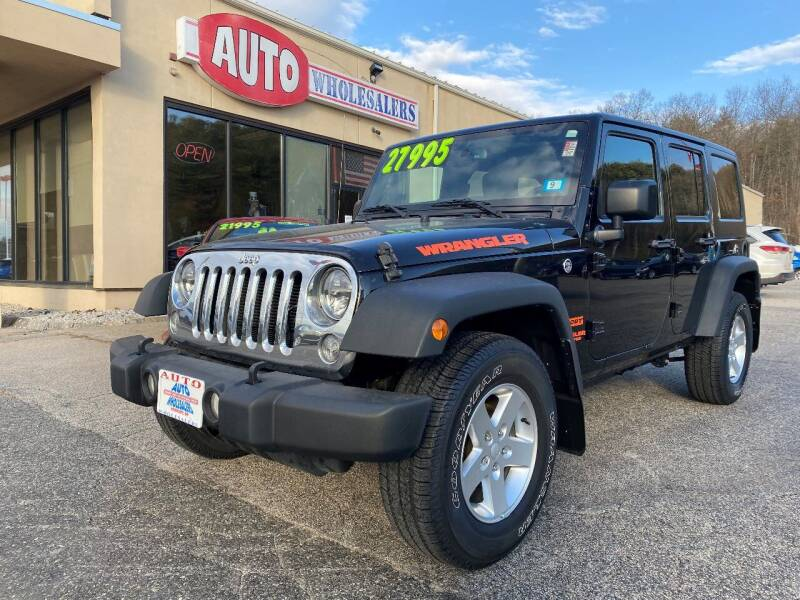 2016 Jeep Wrangler Unlimited for sale at Auto Wholesalers Of Hooksett in Hooksett NH