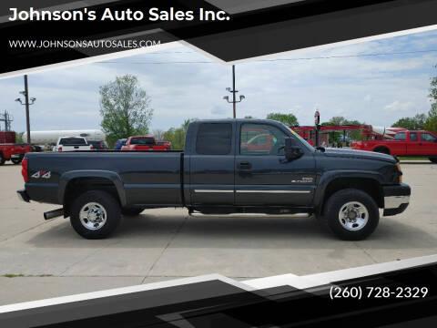 2005 Chevrolet Silverado 2500HD for sale at Johnson's Auto Sales Inc. in Decatur IN