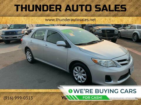 2012 Toyota Corolla for sale at Thunder Auto Sales in Sacramento CA
