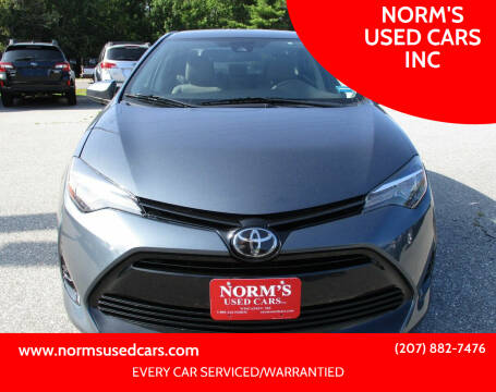 2017 Toyota Corolla for sale at NORM'S USED CARS INC in Wiscasset ME
