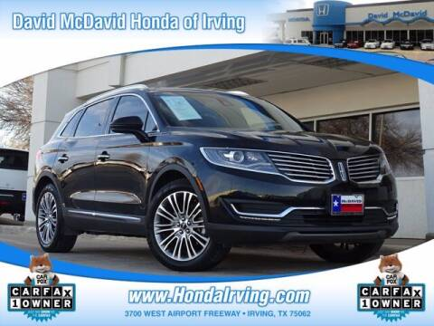 2016 Lincoln MKX for sale at DAVID McDAVID HONDA OF IRVING in Irving TX