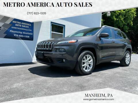 2014 Jeep Cherokee for sale at METRO AMERICA AUTO SALES of Manheim in Manheim PA