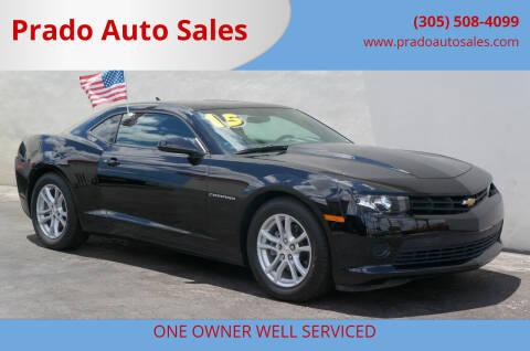 2015 Chevrolet Camaro for sale at Prado Auto Sales in Miami FL