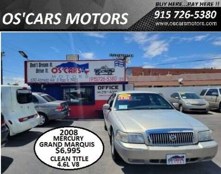 2008 Mercury Grand Marquis for sale at Os'Cars Motors in El Paso TX