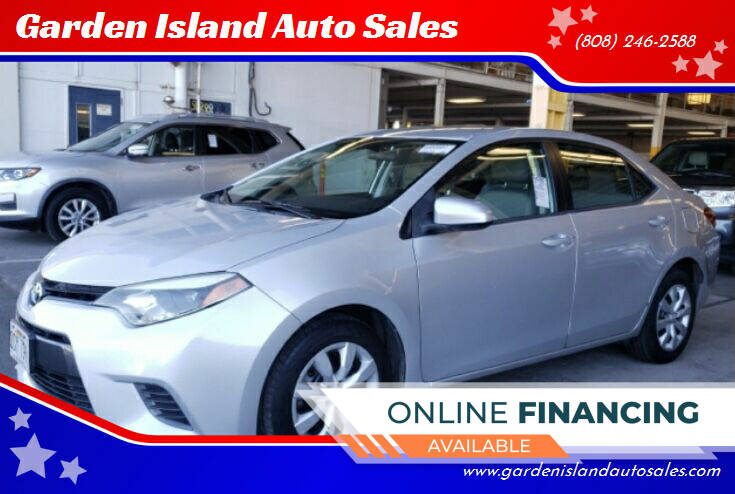 2016 Toyota Corolla for sale at Garden Island Auto Sales in Lihue HI