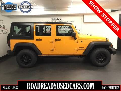 2012 Jeep Wrangler Unlimited for sale at Road Ready Used Cars in Ansonia CT