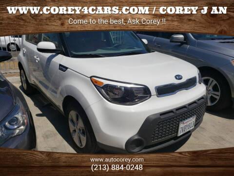 2016 Kia Soul for sale at WWW.COREY4CARS.COM / COREY J AN in Los Angeles CA