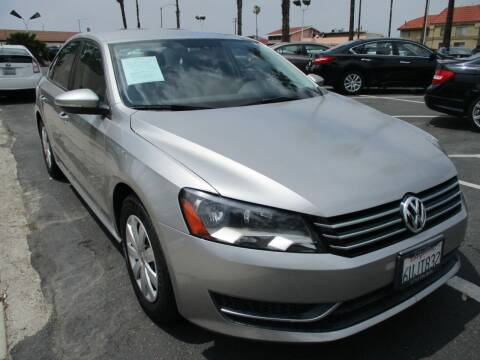 2012 Volkswagen Passat for sale at F & A Car Sales Inc in Ontario CA
