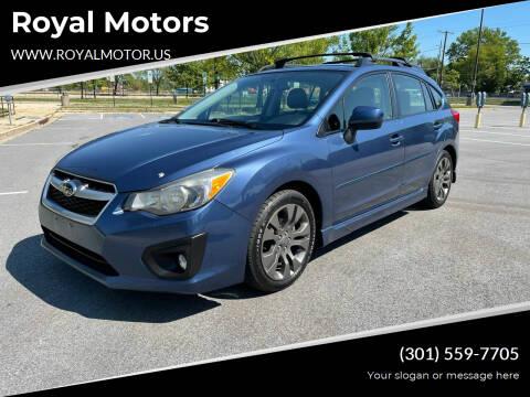 2013 Subaru Impreza for sale at Royal Motors in Hyattsville MD