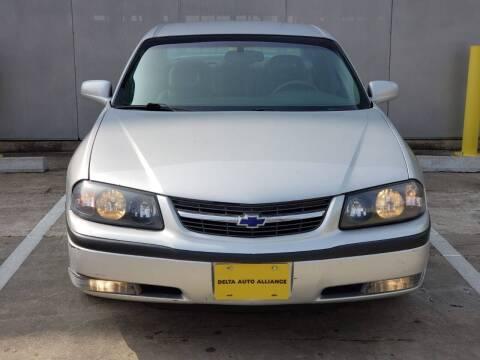 2002 Chevrolet Impala for sale at Delta Auto Alliance in Houston TX