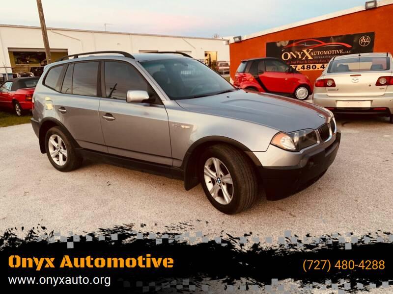2005 BMW X3 for sale at ONYX AUTOMOTIVE, LLC in Largo FL