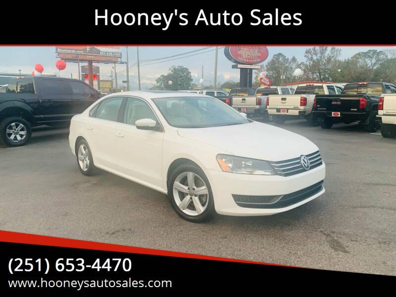 2013 Volkswagen Passat for sale at Hooney's Auto Sales in Theodore AL