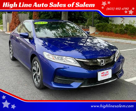 2017 Honda Accord for sale at High Line Auto Sales of Salem in Salem NH