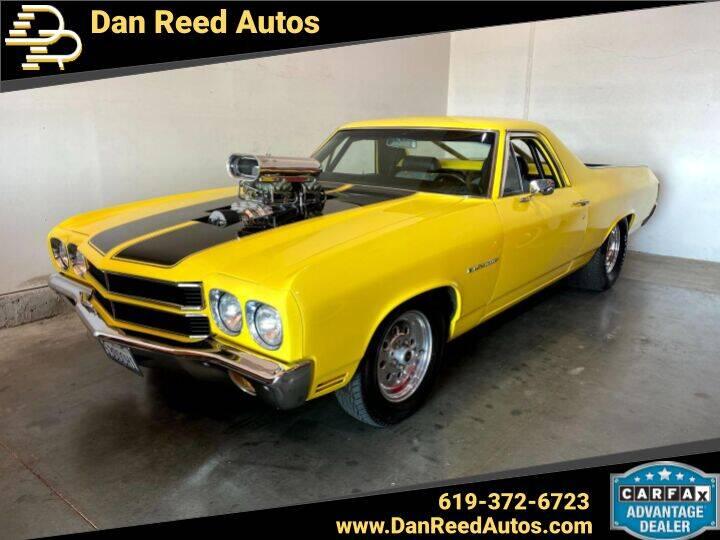 1970 Chevrolet El Camino for sale at Dan Reed Autos in Escondido CA
